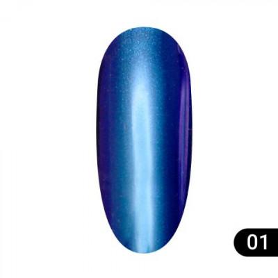 Втирка для ногтей Global Fashion, Magic mirror powder 01