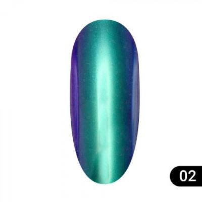 Втирка для ногтей Global Fashion, Magic mirror powder 02