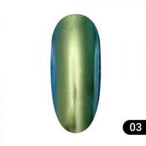 Втирка для ногтей Global Fashion, Magic mirror powder 03