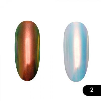 Втирка для ногтей Global Fashion, Neon powder 02