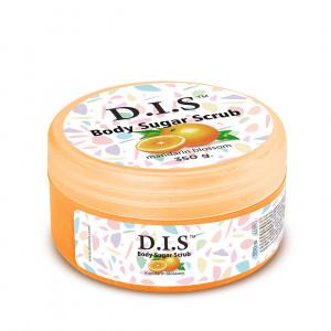 Сахарный скраб для тела с ароматом мандарина DIS NAILS Body Sugar Scrab, 350 г