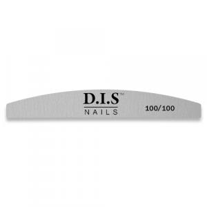 Пилка для ногтей  D.I.S Nails, 100/100 серая