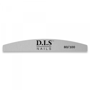 Пилка для ногтей  D.I.S Nails, 80/100 серая