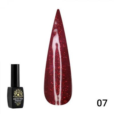 Гель лак GLOBAL FASHION Red Diamond , 8 мл №007