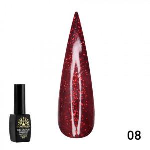 Гель лак GLOBAL FASHION Red Diamond , 8 мл №008