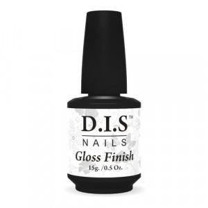 Верхнее покрытие без липкого слоя для геля DIS Gloss Finish 15 мл