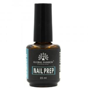 Обезжириватель для ногтей с кисточкой GLOBAL FASHION Nail Prep 15 мл