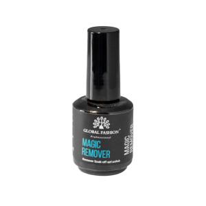 Жидкость для снятия гель лака GLOBAL FASHION Magic Remover, 15 мл