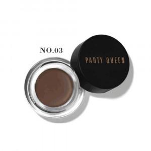 Помада для бровей Темно-коричневая PARTY QUEEN Dark Brown 03