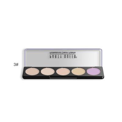 Палитра консилеров для корекции лица 5 цветов PARTY QUEEN 5 Cream Concealer Palette #03