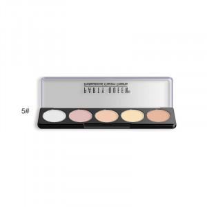 Палитра консилеров для корекции лица 5 цветов PARTY QUEEN 5 Cream Concealer Palette #05