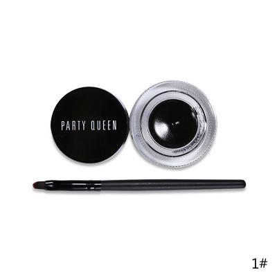 Подводка гелевая + кисть PARTY QUEEN Glamour Eyes цвет Черный