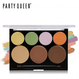 Палитра корректоров и консилеров PARTY QUEEN Contour & Correct Cream Palette