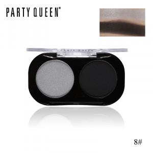 Тени для век 2 цвета PARTY QUEEN Artist Shadows Duo Palette #08